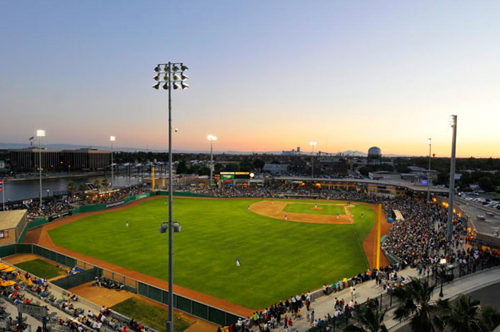 Stockton Ports Banner Island Baseball Stadium Siegfried
